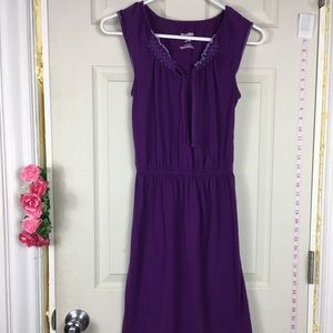 Old Navy Cotton Stretchy Dress Purple Sleeveles XS